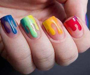 rainbow, colours <3, and nails*__* image
