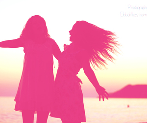girls, pink, and summer image