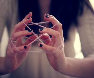 girl, hands, and game image