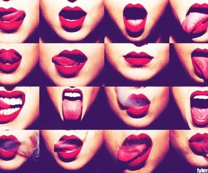 lips, filters, and red image
