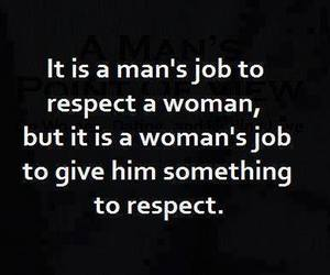 quote, respect, and woman image