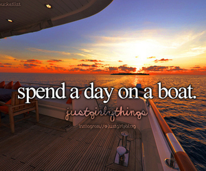 boat, summer, and sunset image