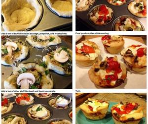 food, pizza, and muffin image