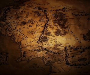 LOTR, map, and the lord of the rings image