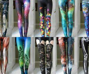 leggings, cool, and galaxy image