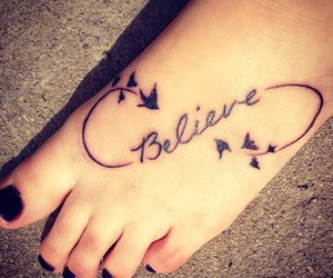 girl, tattoo, and believe image