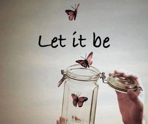 butterfly, Dream, and let it be image