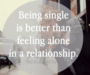 alone, single, and love image