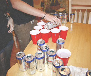 beer pong, party, and beer image