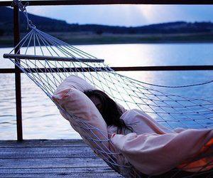 sleep, sea, and hammock image