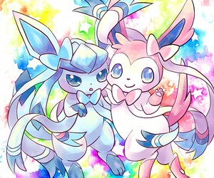 glaceon and sylveon image