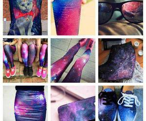 galaxy, shoes, and skirt image