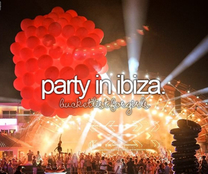 ibiza, party, and bucket list image
