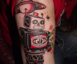 colour, robot, and tattoo image