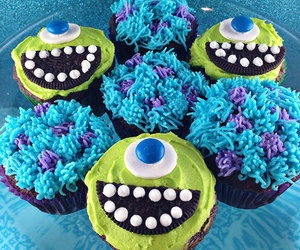 cupcake, food, and monsters image