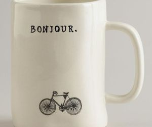 bicycle, bonjour, and cup image