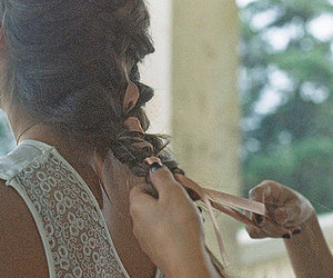 braid, brunette, and girl image
