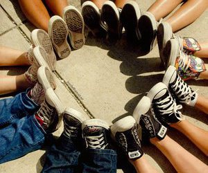 shoes, converse, and friends image