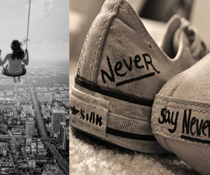 never say never, converse, and shoes image