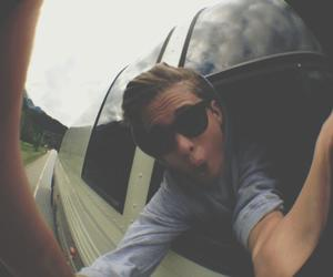 boy, fisheye, and sunglasses image