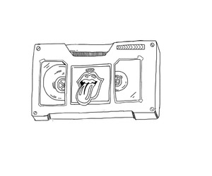 black and white, cassette, and hipster image