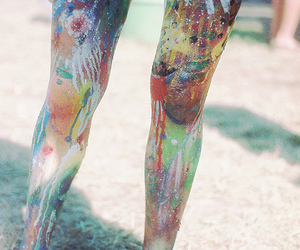 legs and paint image