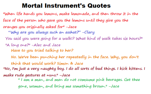 Mortal Instruments Quotes Discovered By This Is Me