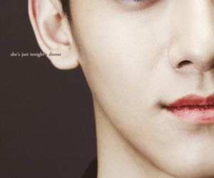 Chen, exo, and red eye image