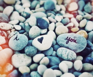 love, I Love You, and stone image