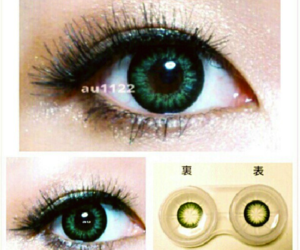 big eyes, colored contacts, and circle lenses image