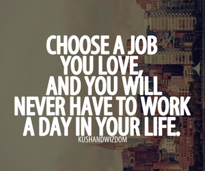 quote, job, and work image