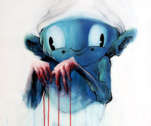 alex pardee, art, and blood image