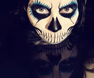 face, Halloween, and paint image