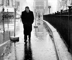 james dean, black and white, and rain image