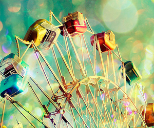 colorful, ferris wheel, and colors image