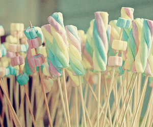 candy, sweet, and marshmallow image