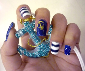 american, anchor, and blue image