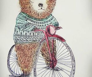 bear, bycicle, and draw image