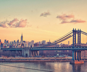 city, new york, and bridge image