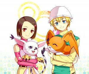 anime, tk, and digimon image