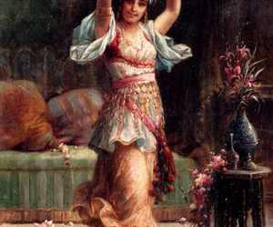 art, gypsy, and painting image