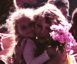 adorable, bouquet, and child image