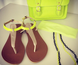 bag, neon, and shoes image