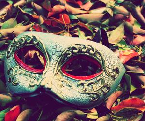 mask and vintage image