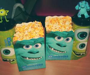 popcorn, monster, and disney image