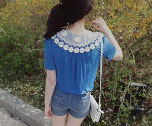 blue, kfashion, and fashion image