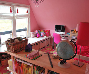 bedroom, pink, and tween image