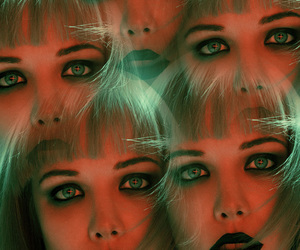 Alice Glass, woman, and black lips image