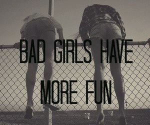 girl, fun, and bad image