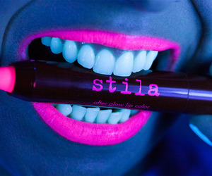 lips, pink, and stila image